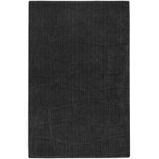 <strong>Candice Olson Rugs</strong> Sculpture Square Black Checked Rug