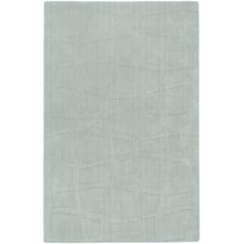 Sculpture Light Blue Checked Rug