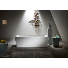 "Conoduo 75"" x 35"" Bathtub with Molded Panel and Leveling Feet"
