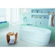 "<strong>Kaldewei</strong> Vaio Duo 71"" x 32"" Oval Bathtub with Molded Panel"