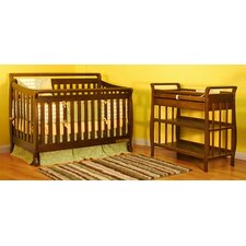 <strong>AFG Furniture</strong> Amy 3-in-1 Convertible Crib Set with Toddler Rail