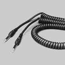 Coiled Black Cable with Molded Ends