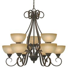 <strong>Golden Lighting</strong> Riverton 9 Light Chandelier