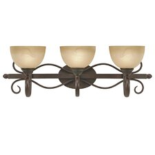 <strong>Golden Lighting</strong> Riverton 3 Light Bath Vanity Light