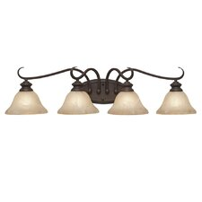 <strong>Golden Lighting</strong> Lancaster 4 Light Bath Vanity Light