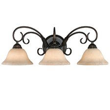 <strong>Golden Lighting</strong> Homestead 3 Light Bath Vanity Light