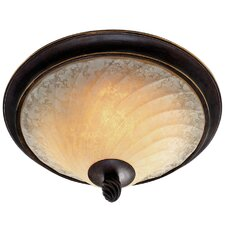 <strong>Golden Lighting</strong> Torbellino 2 Lights Flush Mount