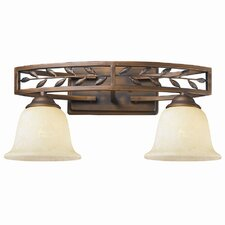 Woodbriar 2 Light Bath Vanity Light