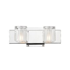 <strong>Golden Lighting</strong> Block 2 Light Bath Vanity Light