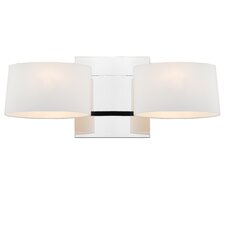 <strong>Golden Lighting</strong> Clio 2 Light Wall Sconce