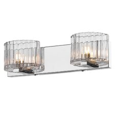 <strong>Golden Lighting</strong> Clara 2 Light Bath Vanity Light