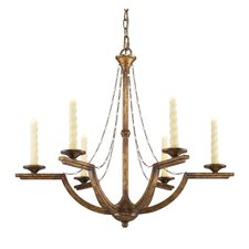 <strong>Golden Lighting</strong> Athena 6 Light Candle Chandelier