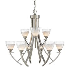 <strong>Golden Lighting</strong> Asteria 9 Light Chandelier