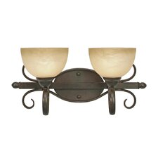 <strong>Golden Lighting</strong> Riverton 2 Light Bath Vanity Light