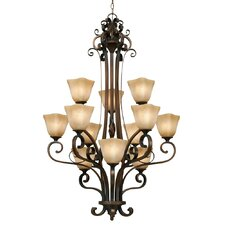 <strong>Golden Lighting</strong> Meridian 12 Light Chandelier