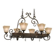 Meridian Chandelier Pot Rack with 8 Light