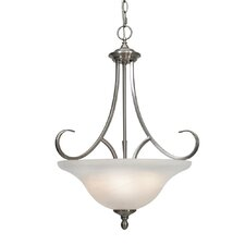 <strong>Golden Lighting</strong> Lancaster 3 Light Bowl Inverted Pendant