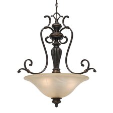 Jefferson 3 Light Bowl Inverted Pendant