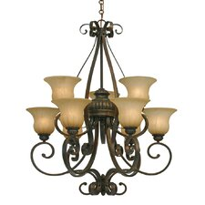 <strong>Golden Lighting</strong> Mayfair 9 Light Chandelier