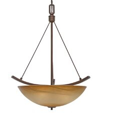 Accurian 3 Light Bowl Inverted Pendant