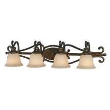 <strong>Golden Lighting</strong> Heartwood 4 Light Bath Vanity Light