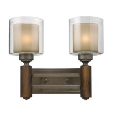 <strong>Golden Lighting</strong> Zura 2 Light Bath Vanity Light