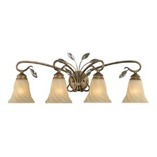 <strong>Golden Lighting</strong> Beau Jardin 4 Light Bath Vanity Light