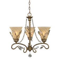 <strong>Golden Lighting</strong> Beau Jardin 3  Light Mini Chandelier