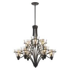 <strong>Golden Lighting</strong> Olympia 9 Light Chandelier
