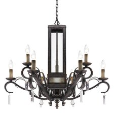 <strong>Golden Lighting</strong> Valencia 9 Light Crystal Chandelier