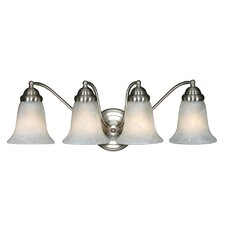 <strong>Golden Lighting</strong> Centennial 4 Light Vanity Light In Pewter