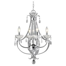 <strong>Golden Lighting</strong> Clarion 4 Light Chandelier