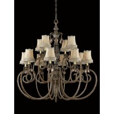 <strong>Triarch Lighting</strong> Mardis Gras 12 Light Chandelier