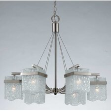 <strong>Triarch Lighting</strong> Arctic Ice 6 Light Chandelier