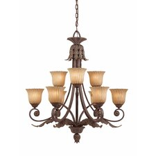 <strong>Triarch Lighting</strong> Vienna 9 Light Chandelier