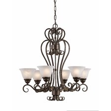 Monte Carlo 6 Light Chandelier