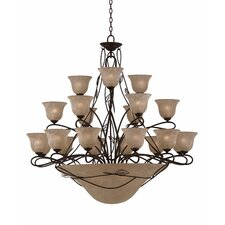 <strong>Triarch Lighting</strong> Whisper 27 Light Entry Chandelier