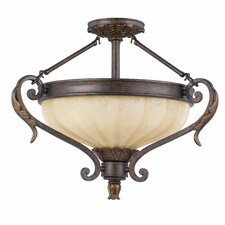 Venus 3 Light Convertible Semi Flush Mount
