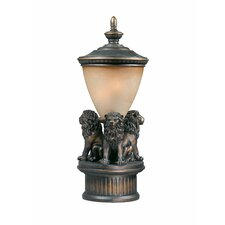 Lion Exterior Outdoor Post Lantern Set
