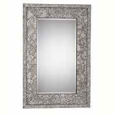 "Jewelry 46"" x 30"" Mirror in Brushed Steel"