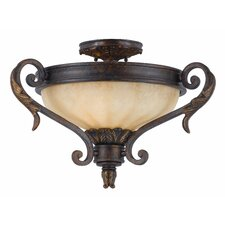 <strong>Triarch Lighting</strong> Venus 2 Light Convertible Semi Flush Mount