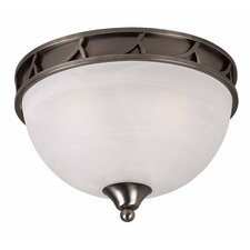 Luxor 3 Light 60W Flush Mount