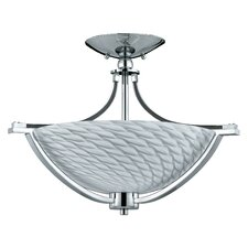 Halogen VII 3 Light Semi Flush Mount