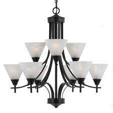 Value Series 9 Light 2 Tier Chandelier