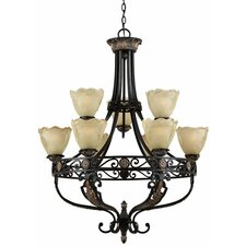 <strong>Triarch Lighting</strong> Corinthian 9 Light Chandelier