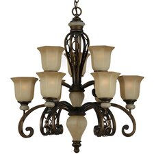 <strong>Triarch Lighting</strong> Ironstone 9 Light Chandelier