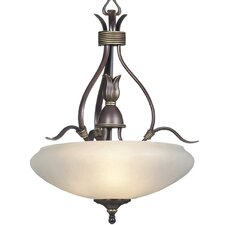 <strong>Triarch Lighting</strong> 3 Light Bowl Inverted Pendant
