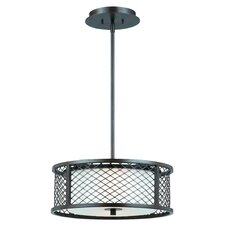 Chainlink 3 Light Drum Foyer Pendant