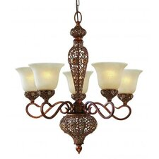 Crown Jewel 5 Light Chandelier