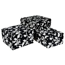 Cube Ottoman (Set of 3) (Set of 3)